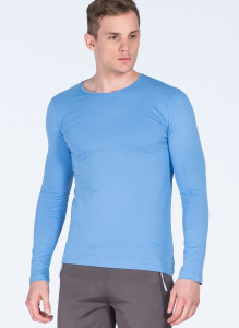 ADZE - Light Blue Men's Round Neck Basic Sweatshirt