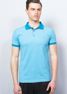 Petrol Blue Men's Polo Shirt