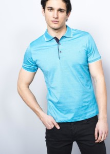 ADZE - Petrol Blue Men's Supreme Polo Shirt