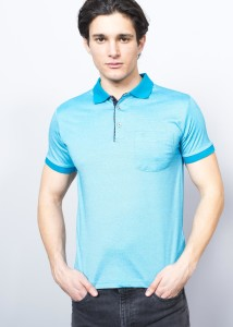 ADZE - Petrol Blue Men's Polo Supreme Shirt with Pocket