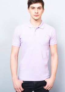 Lilac Men's Pique Polo Shirt