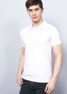 Dust Rose Men's Crested Basic Polo Shirt