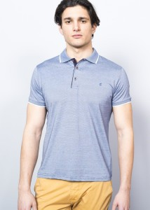 ADZE - INDIGO MEN'S SUPREME BASİC POLO SHIRT