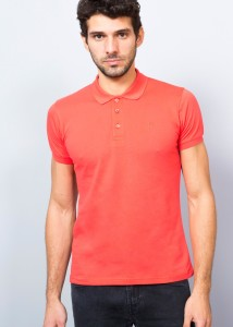 Light Coral Men's Basic Polo Shirt