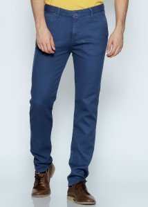 ADZE - Indigo Men's Casual Trousers with Pocket
