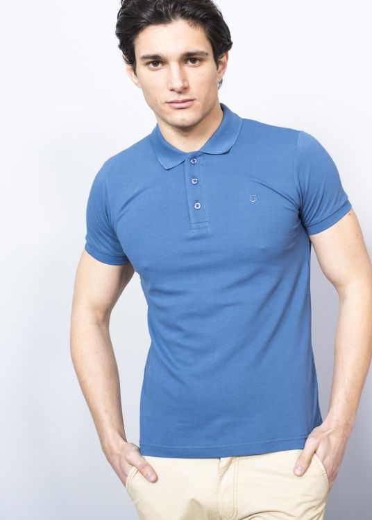 Dark Blue Polo Pique Men's Shirt