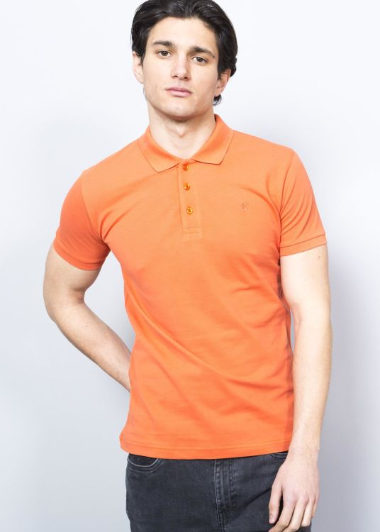 Light Orange Men's Polo Shirt