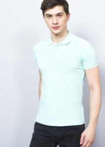 ADZE - Whıte Men's Basic Polo Shirt