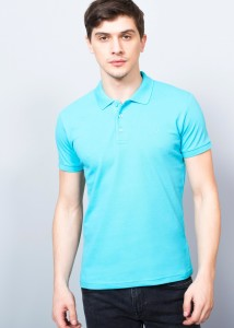 ADZE - Turquoıse Men's Basic Polo Shirt