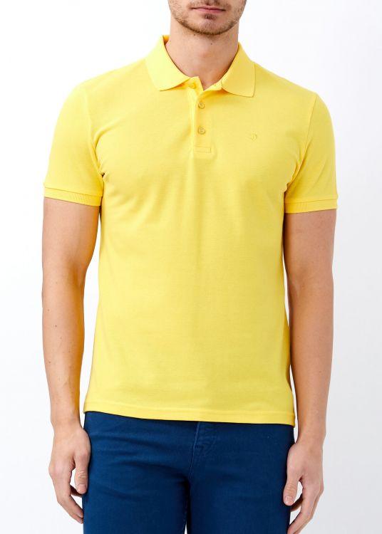 Erkek Limon Slim Fit Basic Polo Yaka Tişört