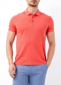 ADZE - Erkek Nar Çiçeği Slim Fit Basic Polo Yaka Tişört
