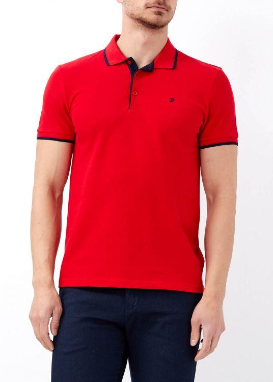 Erkek Kırmızı Slim Fit Basic Polo Yaka Tişört