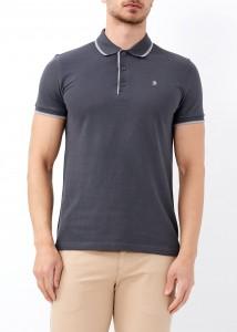 ADZE - Erkek Antrasit Slim Fit Basic Polo Yaka Tişört