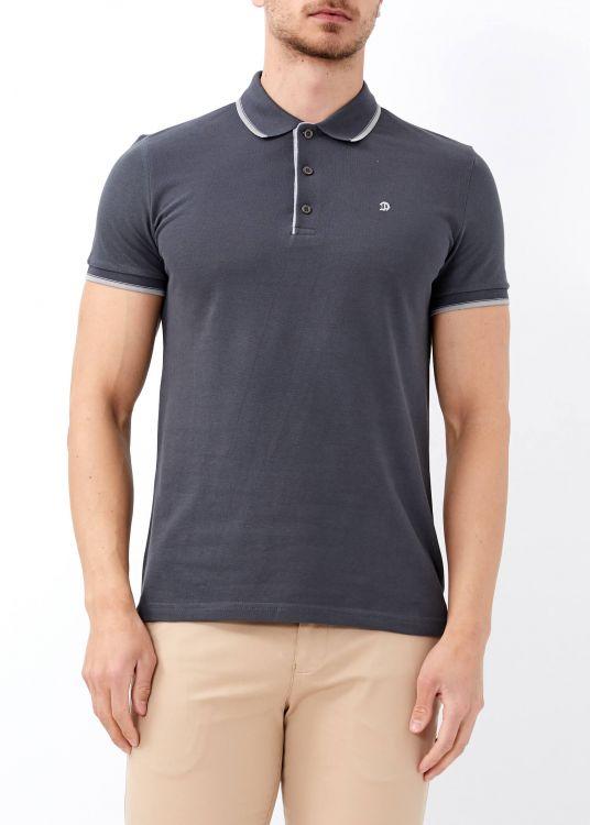 Erkek Antrasit Slim Fit Basic Polo Yaka Tişört