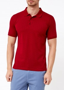 ADZE - Bordo Erkek Slim Fit Basic Tişört