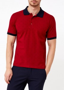 ADZE - Bordo Erkek Slim Fit Polo Yaka Tişört