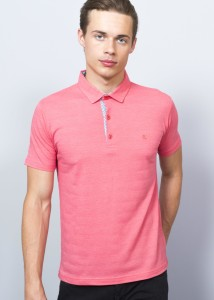 ADZE - Light Coral Men's Basic Polo Shirt
