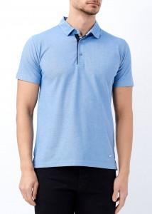 ADZE - Açık Mavi Erkek Slim Fit Basic Polo Yaka Tişört