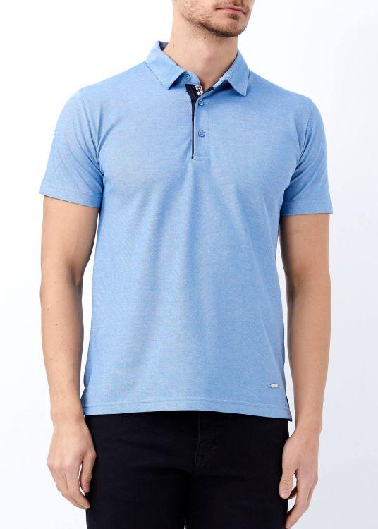 Açık Mavi Erkek Slim Fit Basic Polo Yaka Tişört