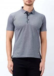 ADZE - Lacivert Erkek Slim Fit Basic Polo Yaka Tişört