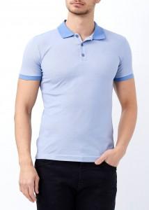 ADZE - Açık Mavi Erkek Klasik Giyim Basic Polo Yaka Tişört