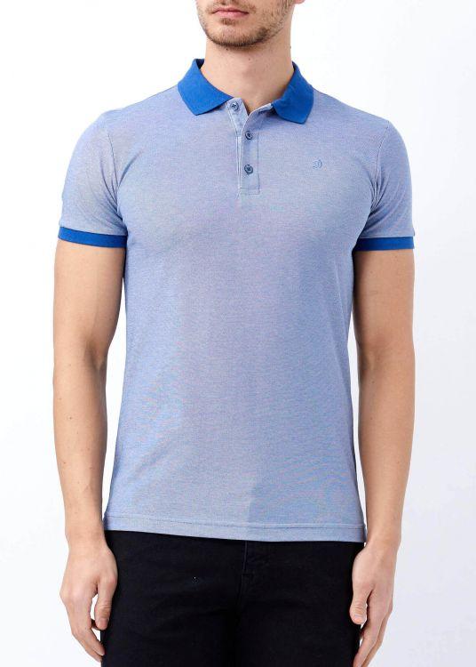 Koyu Mavi Erkek Klasik Giyim Basic Polo Yaka Tişört