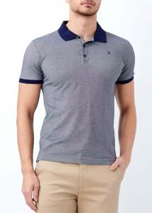 ADZE - Lacivert Erkek Klasik Giyim Basic Polo Yaka Tişört