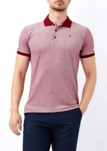 ADZE - Bordo Erkek Klasik Giyim Basic Polo Yaka Tişört