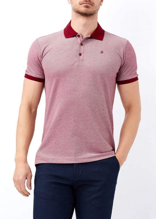 Bordo Erkek Klasik Giyim Basic Polo Yaka Tişört