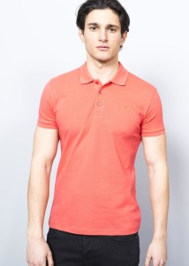 ADZE - Coral Men's Basic Pique Polo Shirt