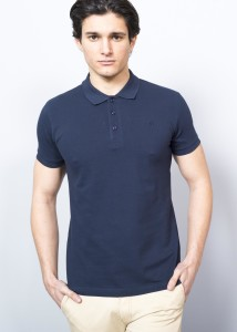 Sax Blue Men's Basic Polo Shirt