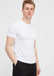 ADZE - Erkek Beyaz Bisiklet Yaka Battal T-shirt