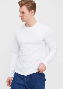 ADZE - Erkek Beyaz Bisiklet Yaka Uzun Kol Sweatshirt