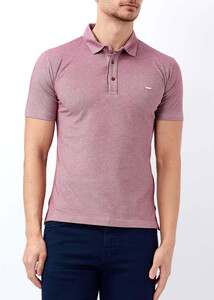 ADZE - Erkek Bordo Basic Polo Yaka T-shirt