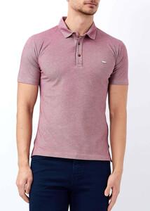 Erkek Bordo Basic Polo Yaka T-shirt