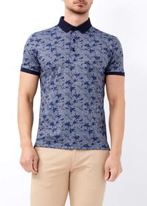 ADZE - Erkek Gri Baskılı Spor Polo Yaka Tişört