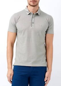 ADZE - Erkek Haki Basic Polo Yaka T-shirt