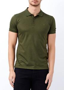 ADZE - Erkek Hakı Basic Slim Fit Polo Yaka Tişört