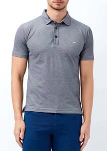 ADZE - Erkek Lacivert Basic Polo Yaka T-shirt
