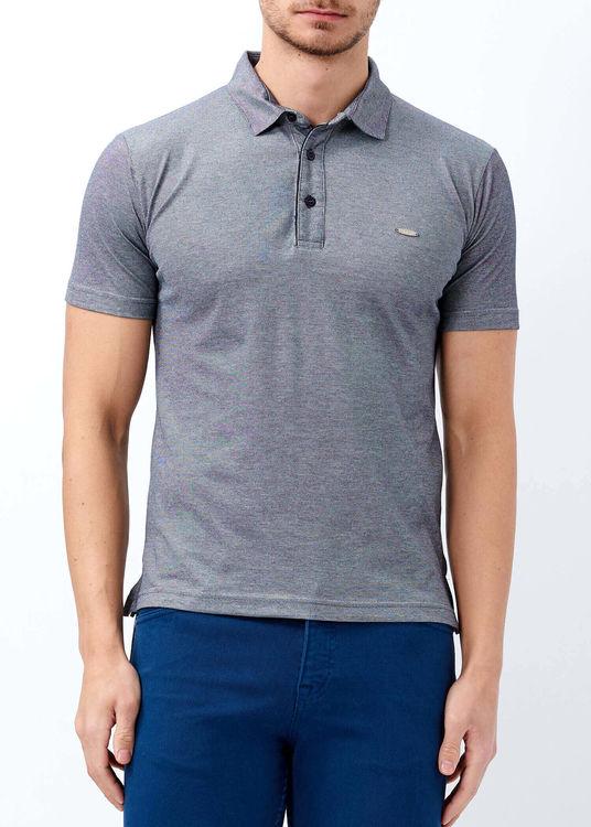 Erkek Lacivert Basic Polo Yaka T-shirt