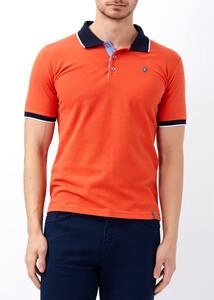 ADZE - Erkek Mandalina Polo Yaka Düğmeli T-shirt