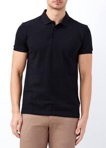 Erkek Siyah Büyük Beden Basic Polo Yaka Tişört