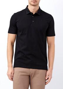 ADZE - Erkek Siyah Düğmeli Klasik Polo Yaka Tişört