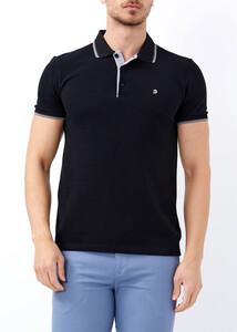 ADZE - Erkek Siyah Slim Fit Basic Polo Yaka Tişört