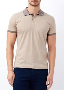 ADZE - Erkek Toprak Slim Fit Jakarlı Polo Yaka Tişört