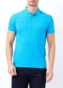Erkek Turkuaz Slim Fit Basic Polo Yaka Tişört