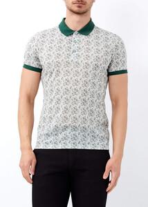 ADZE - Erkek Yeşil Baskılı Polo Yaka Tişört