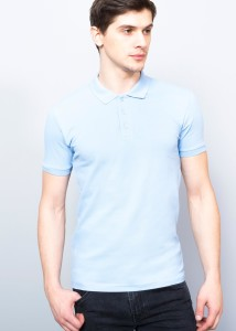 Navy Blue Polo Pique Men's Shirt