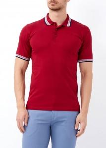 ADZE - Erkek Bordo Düz Polo Yaka Tişört