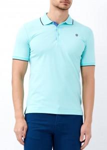 ADZE - Erkek Aqua Yeşil Düz Polo Yaka Tişört